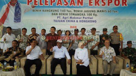 Menteri Pertanian Lepas Ekspor Benih Kangkung, Jagung dan Semangka