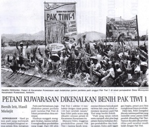 Petani Kuwarasan Dikenalkan Benih Pak Tiwi-1